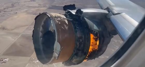 Videóra vették, ahogy Denver fölött felrobban egy Boeing hajtóműve – hvg